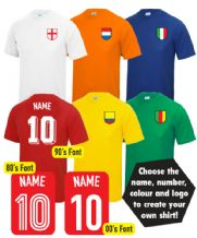 Custom Fancy Dress International Flag Football T-Shirt